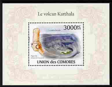 Comoro Islands 2010 Karthala Volcano perf m/sheet unmounted mint