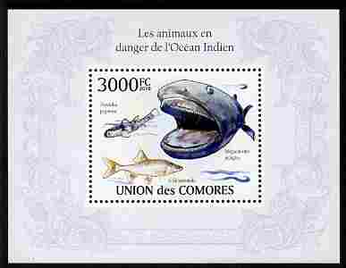 Comoro Islands 2010 Endangered Animals of the Indian Ocean perf m/sheet unmounted mint