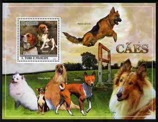 St Thomas & Prince Islands 2010 Dogs perf m/sheet unmounted mint