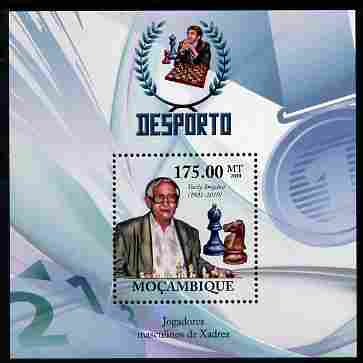 Mozambique 2010 Chess Players - Vasily Smyslov perf m/sheet unmounted mint