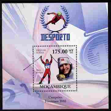 Mozambique 2010 Winter Sports (female) perf m/sheet unmounted mint