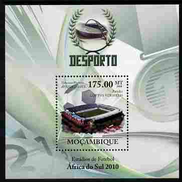Mozambique 2010 Football Stadiums in South Africa perf m/sheet unmounted mint