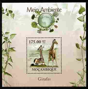 Mozambique 2010 The Environment - Giraffes perf m/sheet unmounted mint Michel BL 298