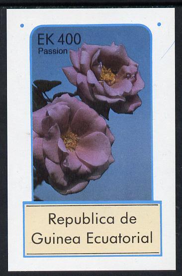 Equatorial Guinea 1976 Roses 400ek imperf m/sheet unmounted mint