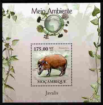 Mozambique 2010 The Environment - Boars perf m/sheet unmounted mint Michel BL 299