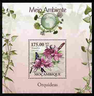 Mozambique 2010 The Environment - Orchids perf m/sheet unmounted mint Michel BL 290