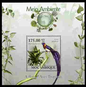 Mozambique 2010 The Environment - Flora & Tropical Birds perf m/sheet unmounted mint Michel BL 292
