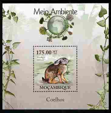Mozambique 2010 The Environment - Rabbits perf m/sheet unmounted mint Michel BL 301
