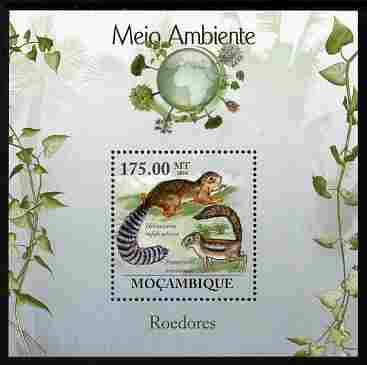 Mozambique 2010 The Environment - Rodents perf m/sheet unmounted mint Michel BL 296