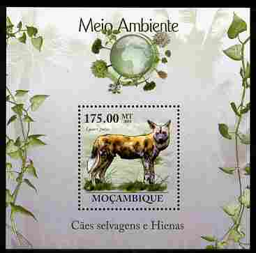 Mozambique 2010 The Environment - Wild Dogs & Hyenas perf m/sheet unmounted mint Michel BL 305