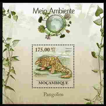 Mozambique 2010 The Environment - Pangolins perf m/sheet unmounted mint Michel BL 308