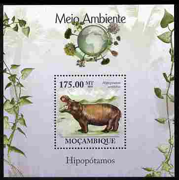 Mozambique 2010 The Environment - Hippos perf m/sheet unmounted mint Michel BL 309