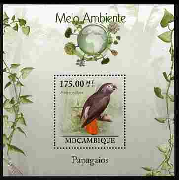 Mozambique 2010 The Environment - Parrots perf m/sheet unmounted mint Michel BL 295