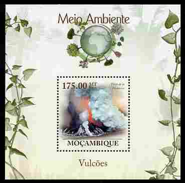 Mozambique 2010 The Environment - Volcanoes perf m/sheet unmounted mint Michel BL 315