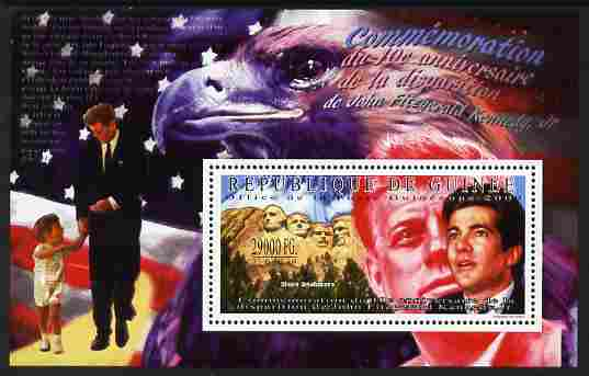 Guinea - Conakry 2009 Tenth Death Anniversary of John Fitzgeral Kennedy Jr perf m/sheet unmounted mint , stamps on personalities, stamps on kennedy, stamps on usa presidents, stamps on americana, stamps on aviation