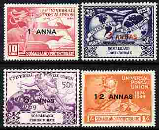 Somaliland 1949 KG6 75th Anniversary of Universal Postal Union set of 4 unmounted mint, SG 121-24