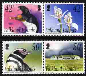 Falkland Islands 2004 Off-shore Islands - 4th series perf set of 4 (2 se-tenant pairs) unmounted mint, SG 993-6
