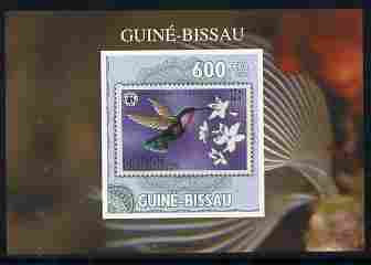 Guinea - Bissau 2010 WWF - Stamp On Stamp #3 - Humming Bird (Grenada Genadines) individual imperf deluxe sheet unmounted mint. Note this item is privately produced and is offered purely on its thematic appeal