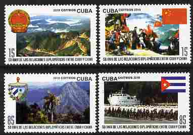 Cuba 2010 50th Anniversary of Diplomatic Relations between Cuba & China perf set of 4 unmounted mint