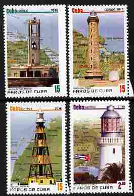 Cuba 2010 Lighthouses perf set of 4 unmounted mint