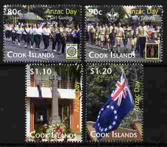 Cook Islands 2010 Anzac Day perf set of 4 unmounted mint