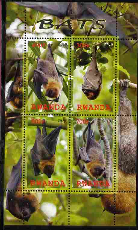 Rwanda 2010 Bats perf sheetlet containing 4 values unmounted mint