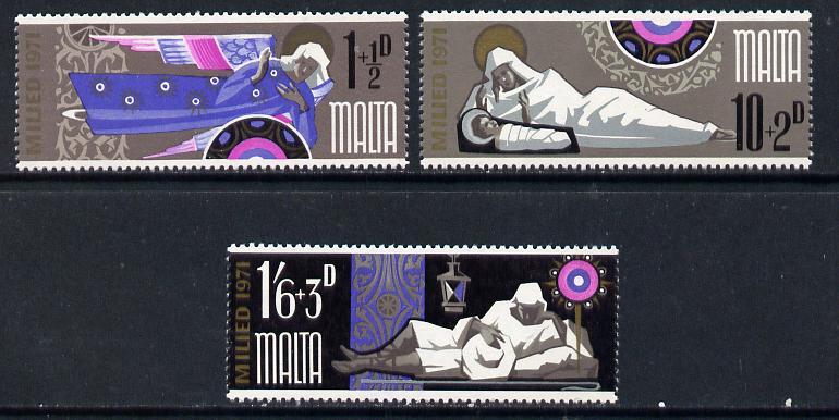 Malta 1971 Christmas set of 3 unmounted mint, SG 460-62*