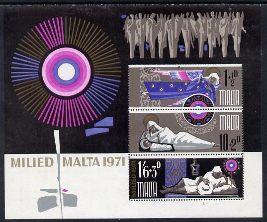 Malta 1971 Christmas m/sheet unmounted mint, SG MS 463