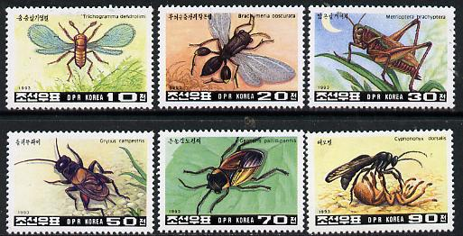 North Korea 1993 Insects set of 6 unmounted mint SG N3267-72*