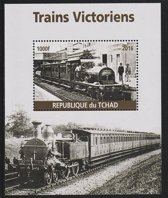 Chad 2016 Victorian Trains #1 perf s/sheet containing 1 value unmounted mint. Note this item is privately produced and is offered purely on its thematic appeal. .