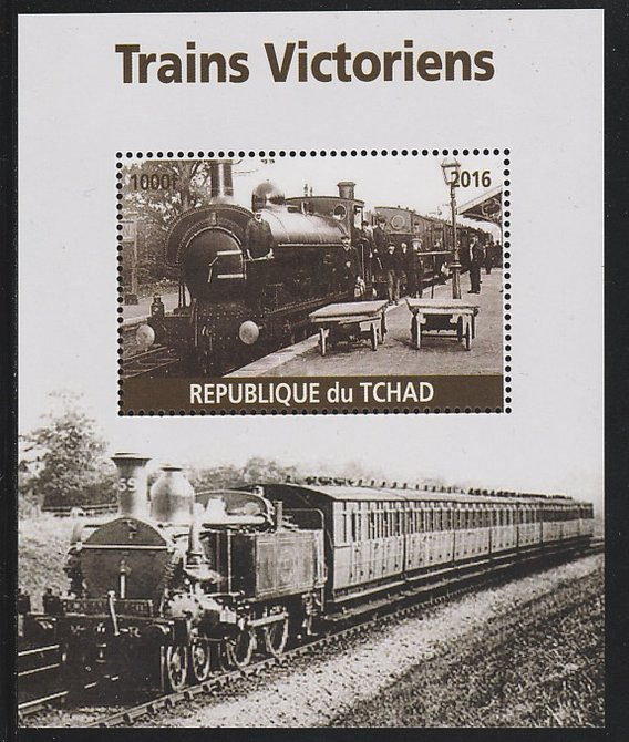 Chad 2016 Victorian Trains #2 perf s/sheet containing 1 value unmounted mint. Note this item is privately produced and is offered purely on its thematic appeal. .
