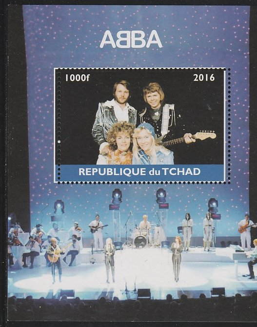 Chad 2016 Abba perf s/sheet containing 1 value unmounted mint. Note this item is privately produced and is offered purely on its thematic appeal. .