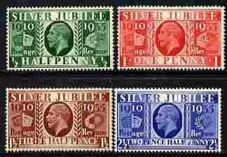 Great Britain 1935 KG5 Silver Jubilee set set of 4 unmounted mint, SG 453-6