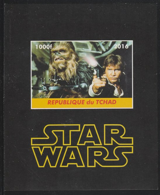 Chad 2016 Star Wars imperf s/sheet containing 1 value unmounted mint. Note this item is privately produced and is offered purely on its thematic appeal. .