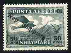 Albania 1927 Air Rep Shqiptare overprint on 5q green unmounted mint SG 204
