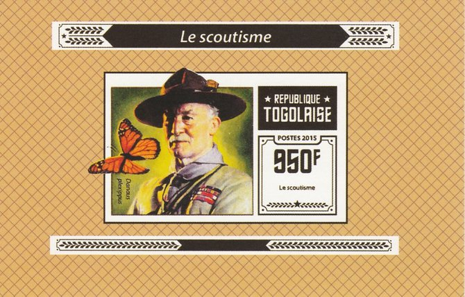 Togo 2015 Scouting #1 imperf deluxe sheet unmounted mint. Note this item is privately produced and is offered purely on its thematic appeal