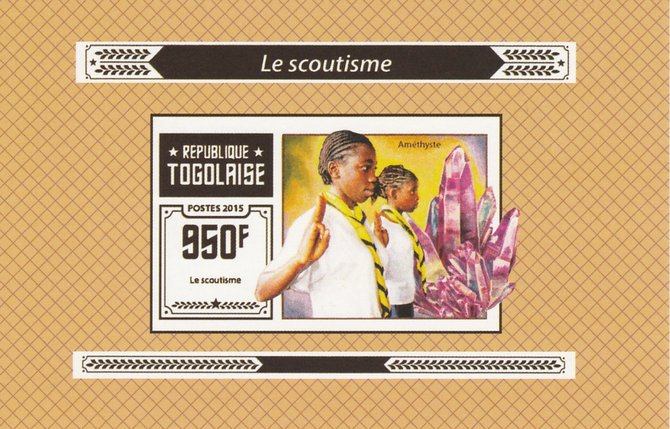 Togo 2015 Scouting #3 imperf deluxe sheet unmounted mint. Note this item is privately produced and is offered purely on its thematic appeal