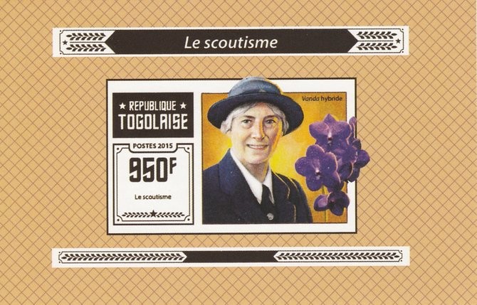 Togo 2015 Scouting #4 imperf deluxe sheet unmounted mint. Note this item is privately produced and is offered purely on its thematic appeal