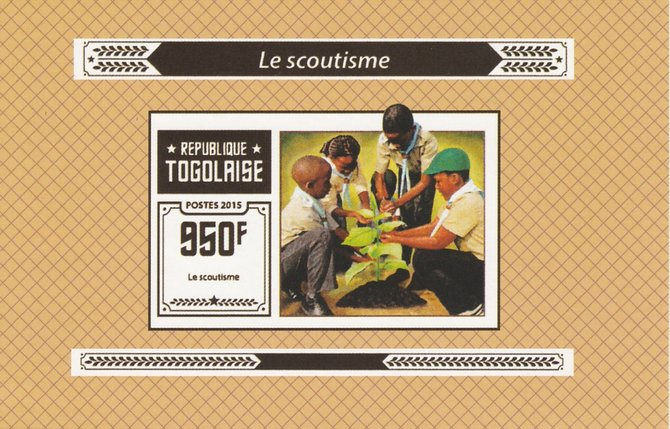 Togo 2015 Scouting #5 imperf deluxe sheet unmounted mint. Note this item is privately produced and is offered purely on its thematic appeal