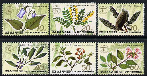 North Korea 1993 Endemic Plants complete perf set of 6 unmounted mint, SG N3234-39*