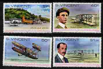 St Vincent 1978 75th Anniversary of First Flight perf set of 4 unmounted mint, SG 566-69