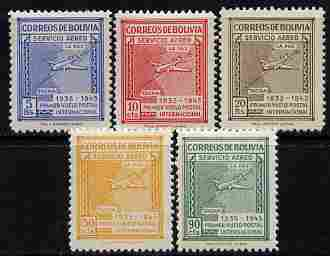 Bolivia 1945 Panagra Airways perf set of 5 unmounted mint, SG 433-37