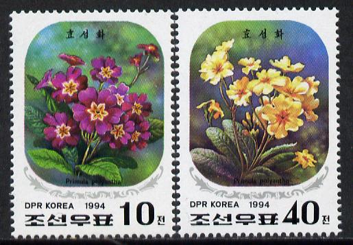North Korea 1994 Flowers (52nd Birthday of Kim Jong Il) set of 2 unmounted mint, SG N3364-65*