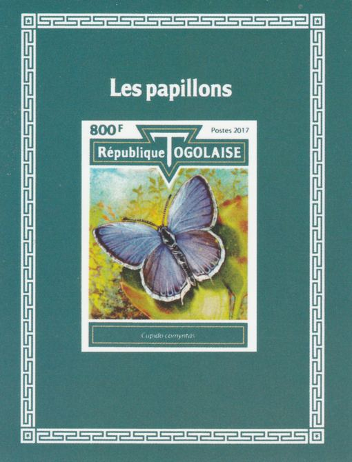 Togo 2017 Butterflies #2 imperf deluxe sheet unmounted mint. Note this item is privately produced and is offered purely on its thematic appeal.