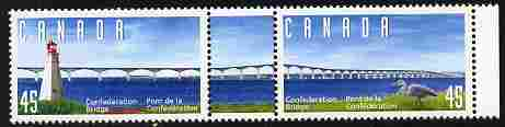 Canada 1997 Opening of Confederation Bridge se-tenant set of 2 plus label unmounted mint SG 1731-2