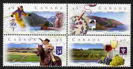 Canada 1997 Scenic Highways - 1st series se-tenant perf block of 4 unmounted mint SG 1737-40