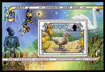 Jersey 2005 Fairy Tales - The Ugly Duckling perf m/sheet unmounted mint, SG MS 1200