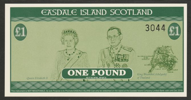 Easdale 2014  �1 note specially produced for the Scottish Independence Referendum with only 4,000 notes produced. Pristine and rarely offered