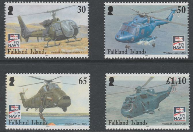 Falkland Islands 2009 Centenary of naval Aviation set of 4 unmounted mint