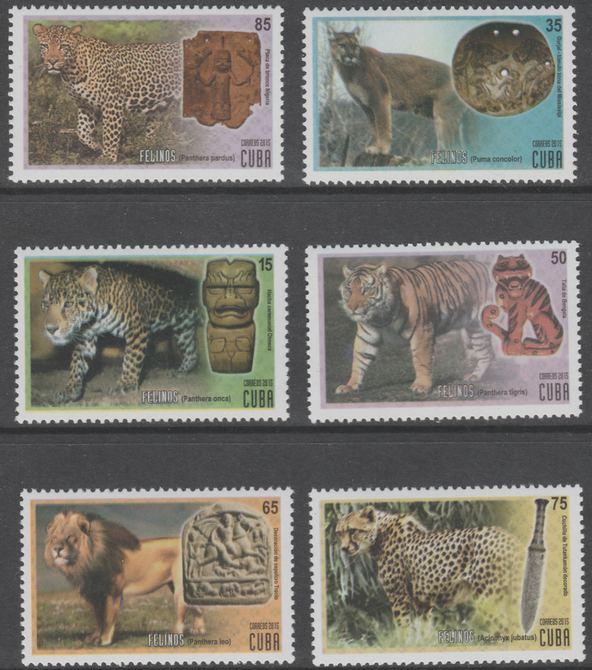 Cuba 2015 Cats perf set of 6 unmounted mint